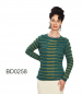 "Mobile Preview: Womens Alpaca Sweater ""Kiel"" with Bar Pattern"