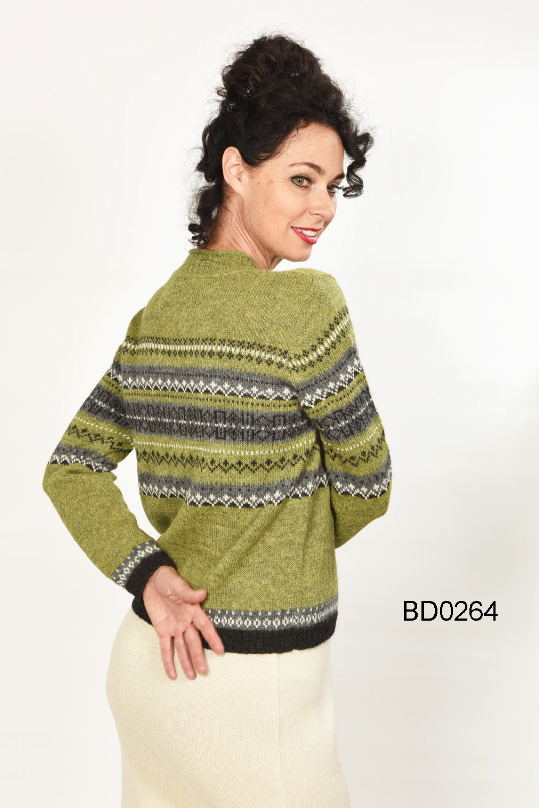 Women's Alpaca Sweater in Norwegian Look