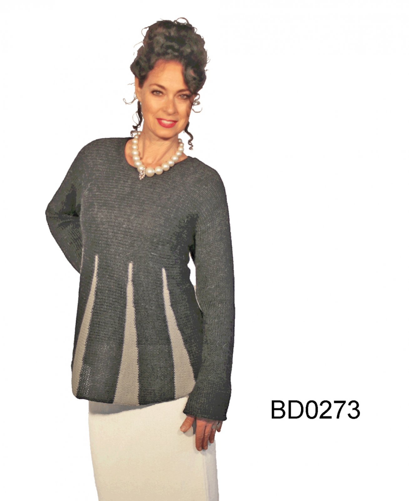 "Women's Flared Alpaca Sweater ""Rondo"""