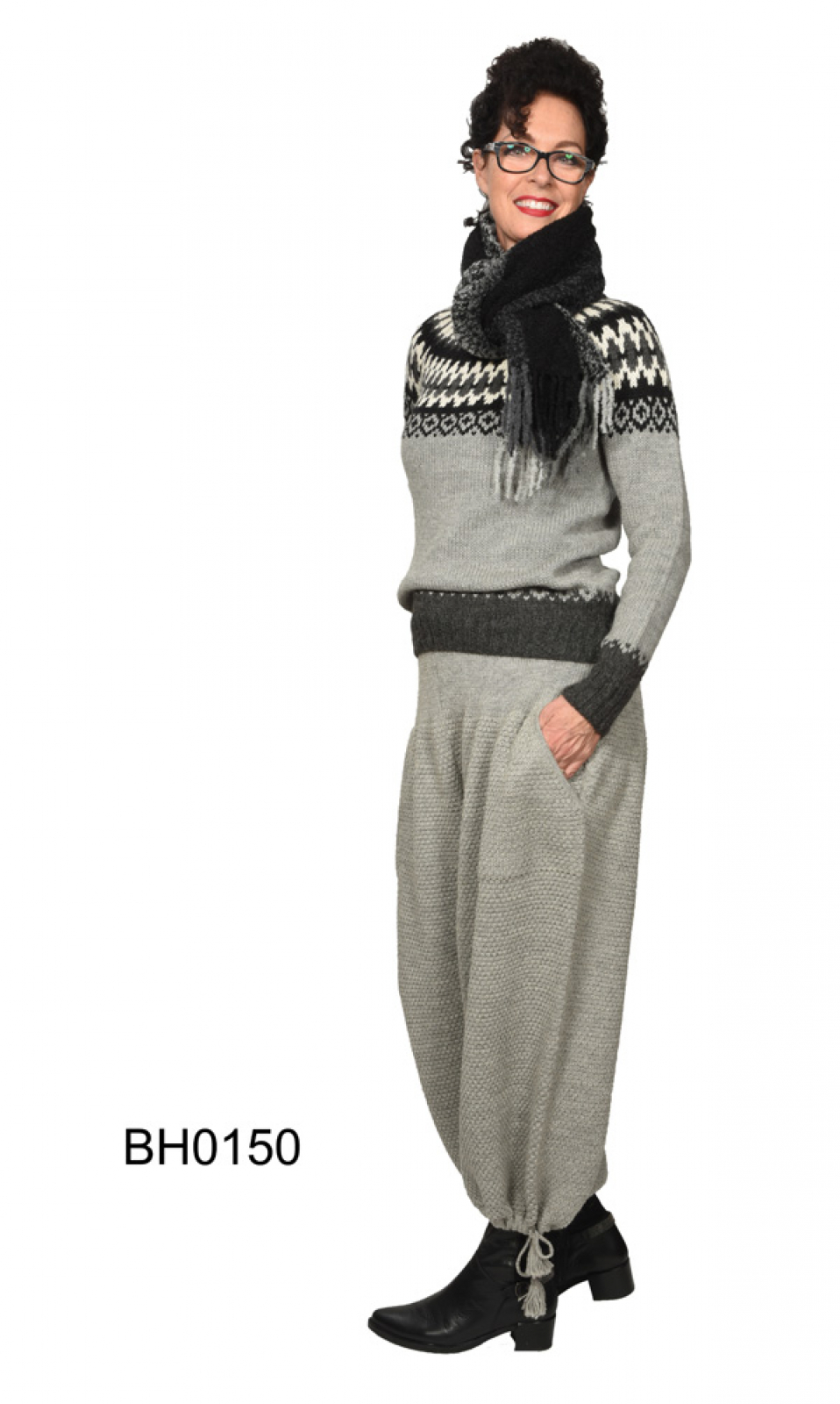 Legere Kosack Pants in Alpaca, block knit