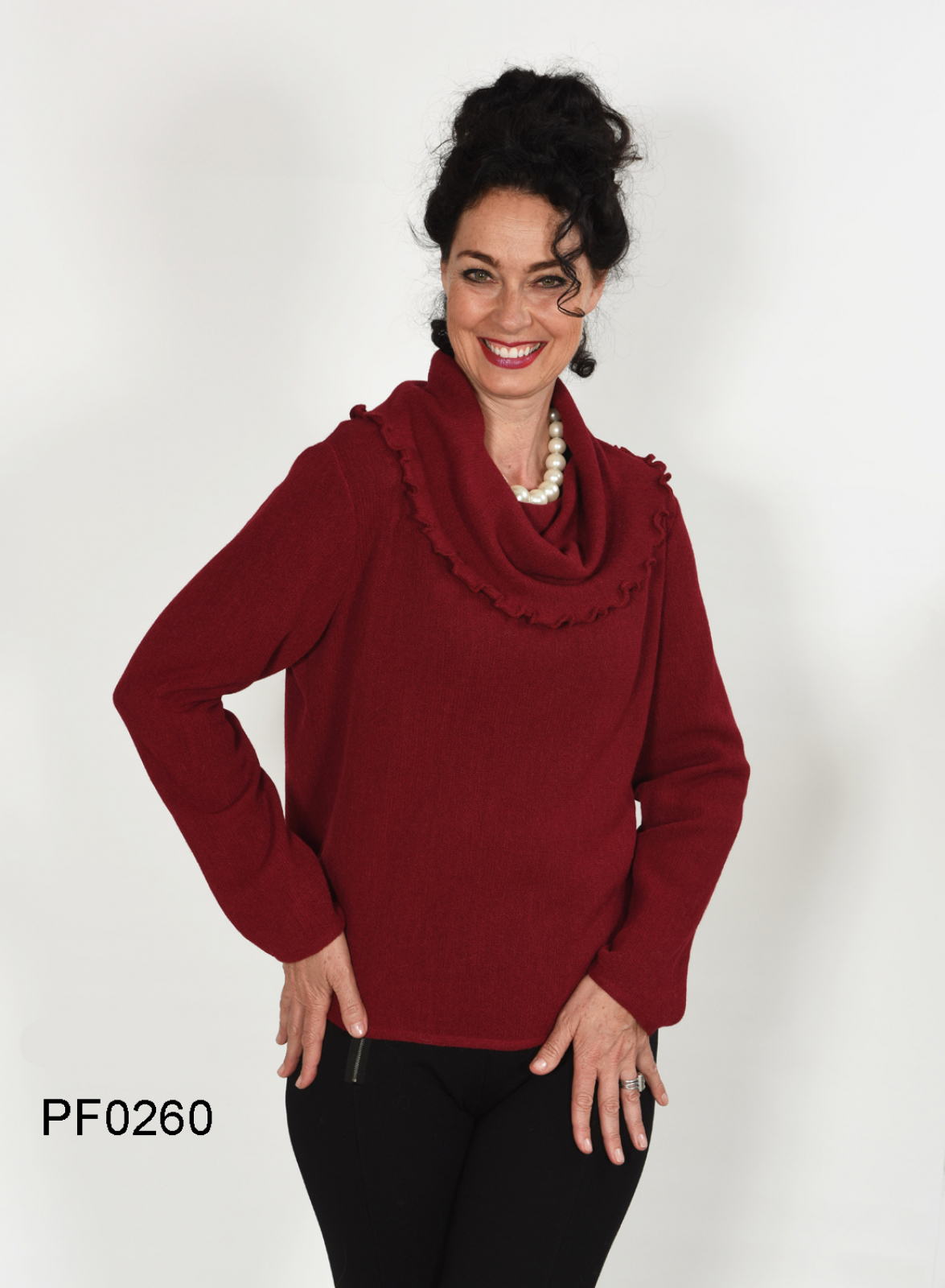 Damen Rollkragenpullover in Baby Alpaka, Links-Strick