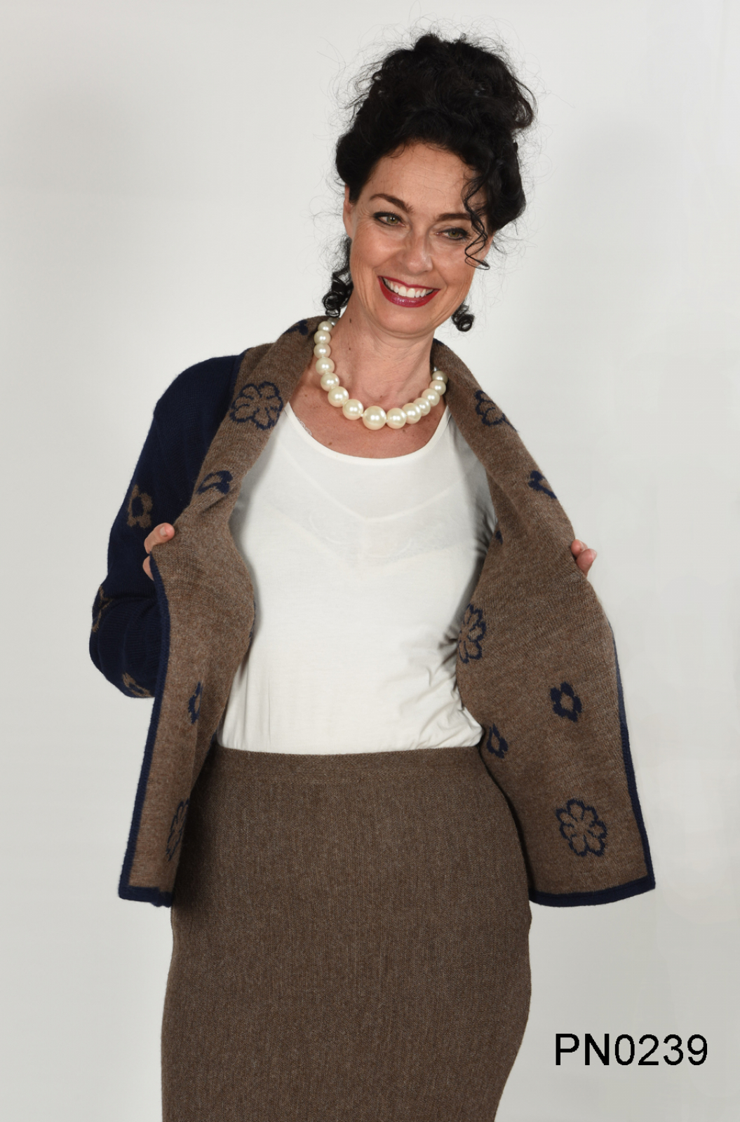 Womens Reversible Alpaca Jacket