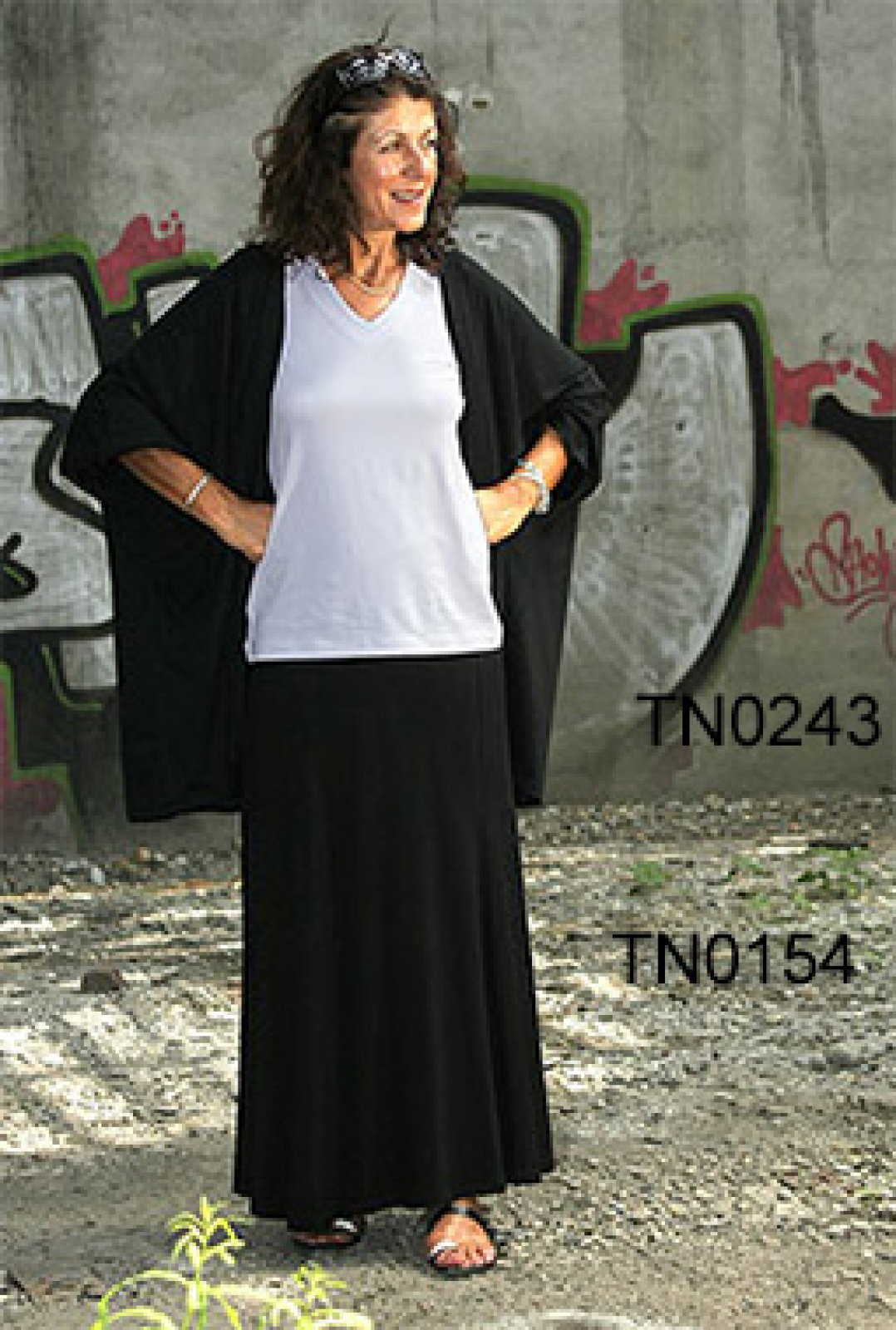 "Panel Skirt ""Cynthia"", 95% viscose / 5% lycra"