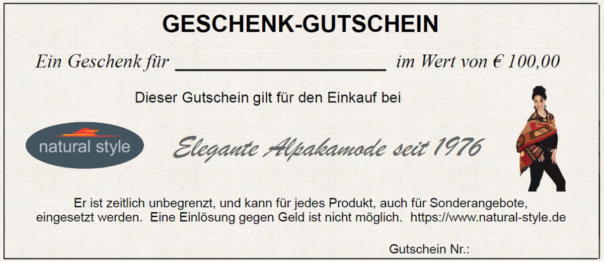 Gift Certificate for Euro 100.00