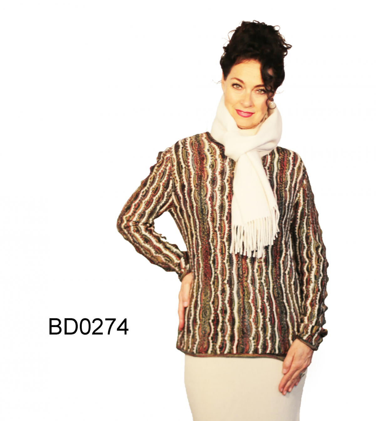 Womens Alpaca Sweater with Crew-Neck Venezia