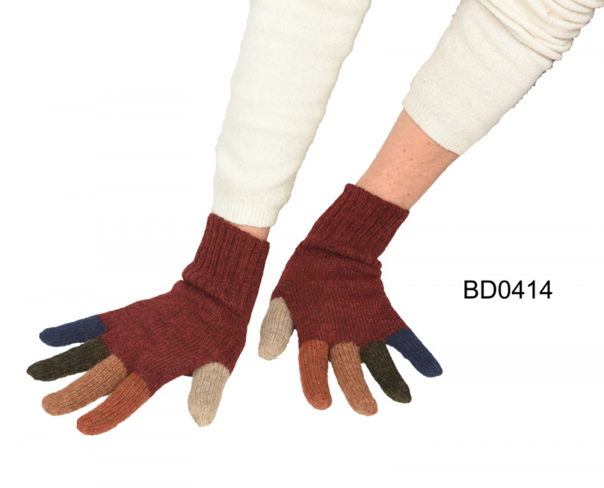 "Alpaca Gloves ""Carnival"""