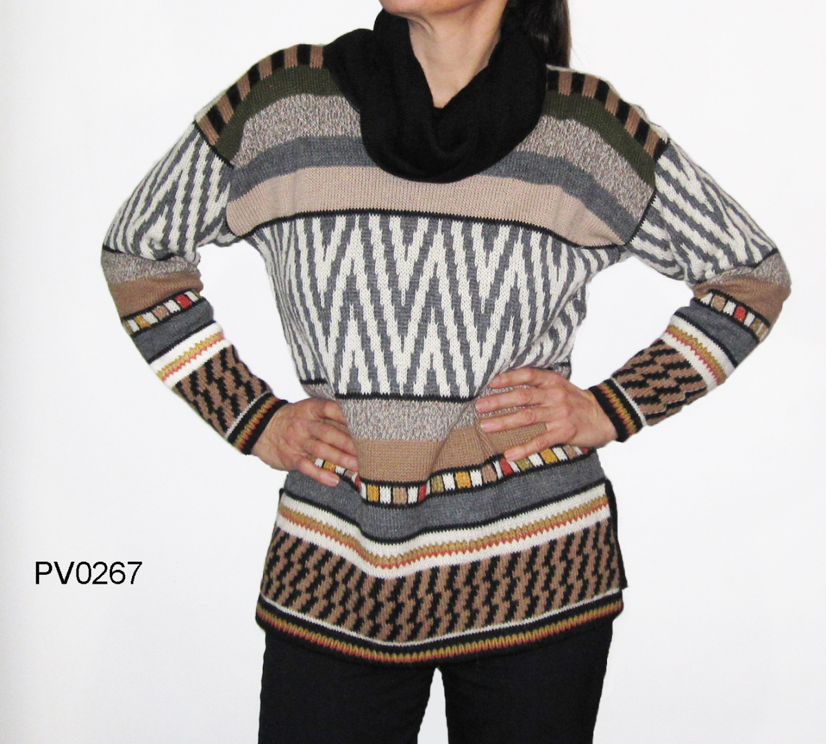 Women's Alpaca Turtle-Neck Sweater
